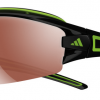 Adidas Evil Eye Halfrim Pro Sunglasses Shiny Black / Green - LST Active Silver + Bright (6050)