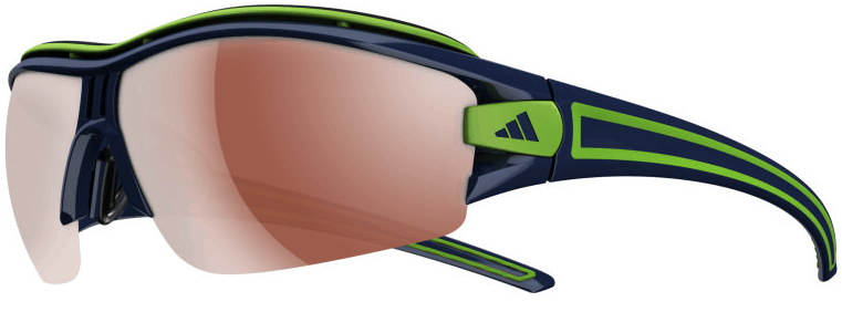 Adidas Evil Eye Halfrim Pro Sunglasses Shiny Ink / Green - LST Active Silver + Bright (6083)