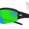 Adidas Evil Eye Halfrim Pro Optical Insert Prescription Sunglasses Black Shiny / Black 6090 - Grey / Green Mirror H