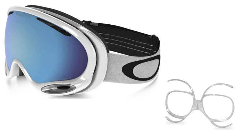 Oakley A Frame 2 0 Polished White Prizm Sapphire Goggles