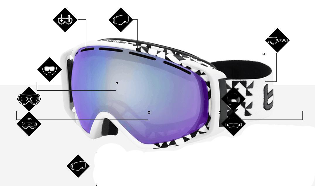 Bolle prescription goggles features