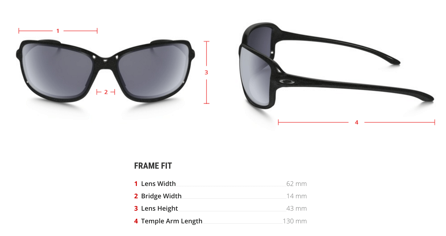 oakley prescription cohort sunglasses measurements