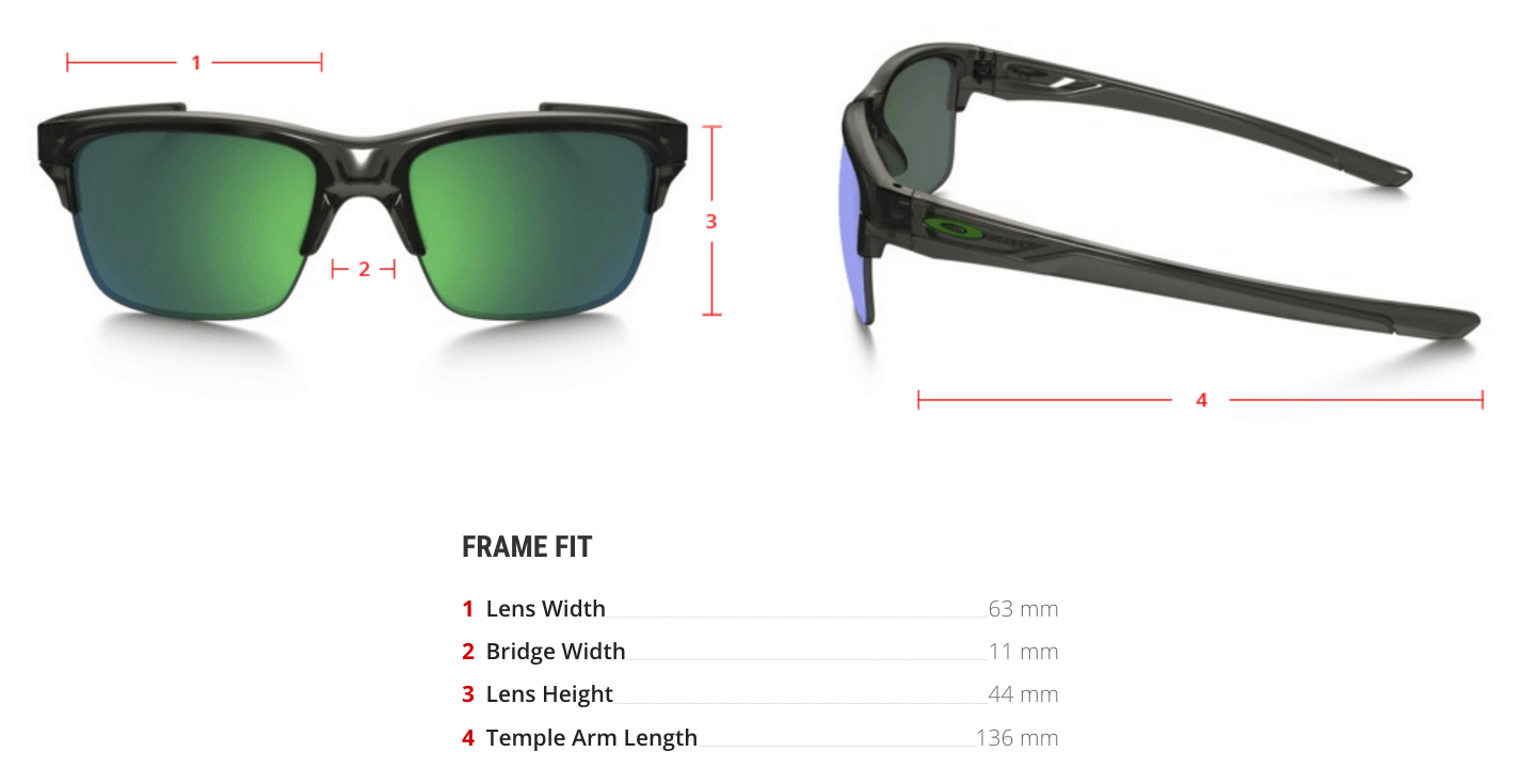 oakley prescription thinlink sunglasses measurements