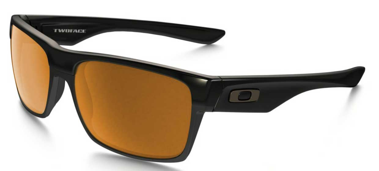 Oakley Twoface Polished Black Lens Dark Bronze Gold fwioIz2