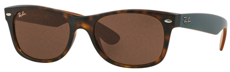 Ray-Ban New Wayfarer prescription sunglasses Matte Havana