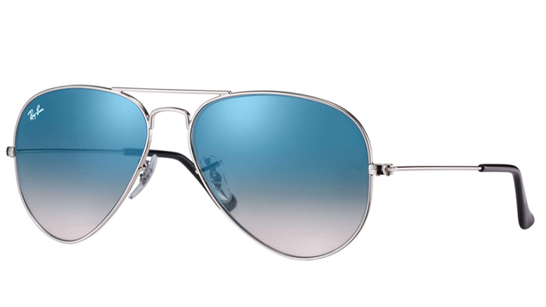 26a24e1f3e Ray-Ban Aviator prescription sunglasses silver frame