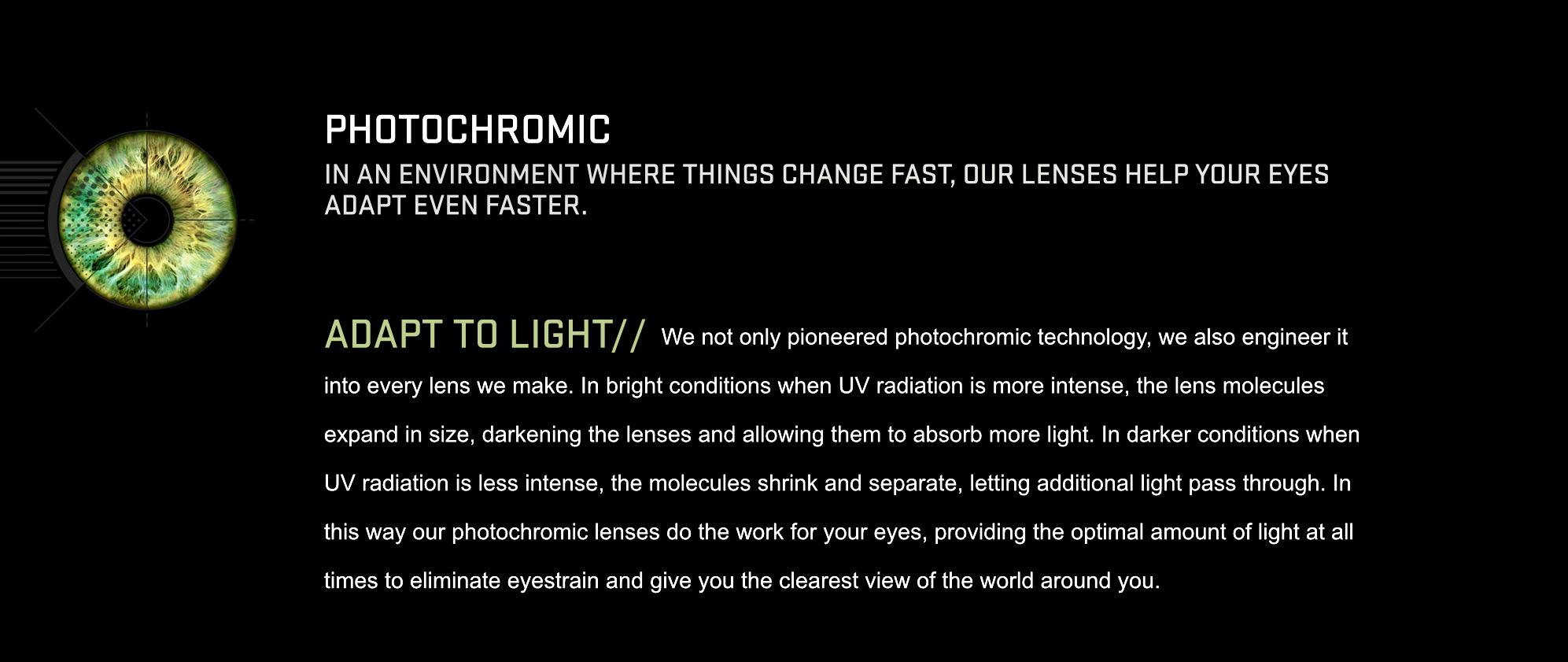 Serengeti prescription sunglasses photochromic technology
