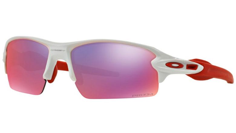 a73e3f98c4e4 Oakley Flak 2.0 Polished White Red Prescription Sunglasses with Digital  Lenses
