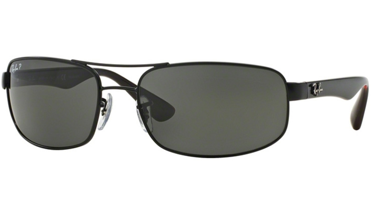 80c3769942cf55 Ray Ban Matte Black 3445 prescription sunglasses with Ray Ban Lenses