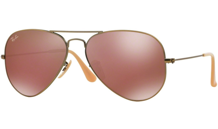 5e82ead4cc1 Ray Ban Brushed Bronze Aviator prescription sunglasses with Ray Ban Lenses