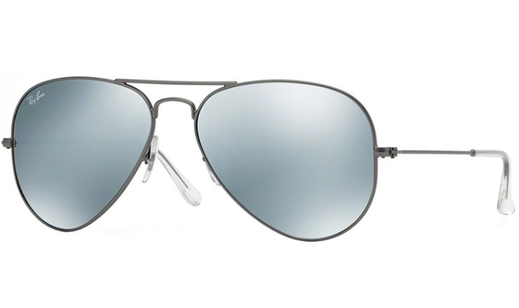 05e7344e3a Ray Ban Matte Gunmetal Aviator prescription sunglasses with Ray Ban Lenses