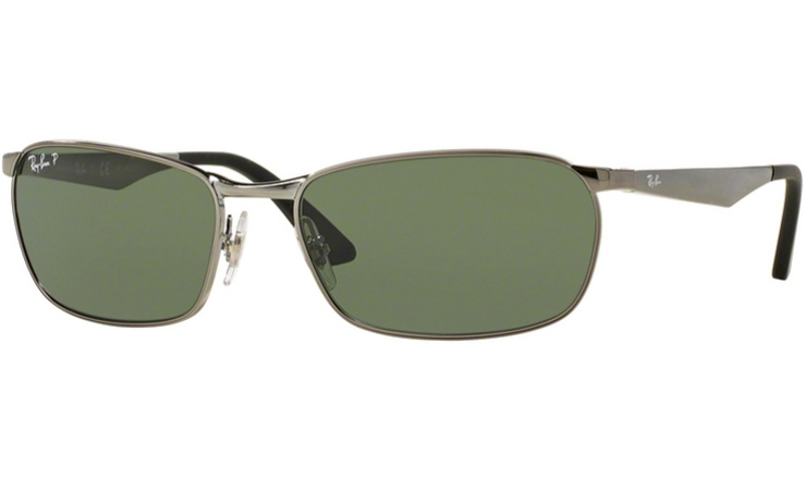 917590334d Ray Ban Gunmetal 3534 prescription sunglasses with Ray Ban Lenses