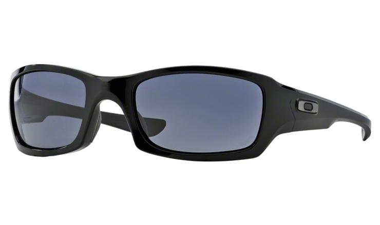 Oakley Fives Squared Prescription Sunglasses Polished Black With Gunmetal  Icon Oakley Lenses abf5e330a