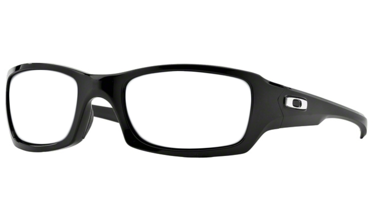 dd63b87b84d Oakley Fives Squared Prescription Sunglasses Polished Black With Chrome  Icon Oakley Lenses