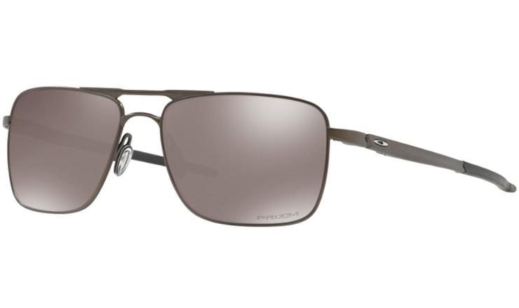 10fd51fa894 Oakley Gauge 6 Titanium Prescription Sunglasses Pewter With Chrome Icon  Oakley Lenses