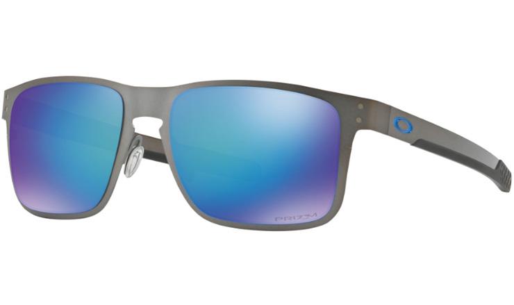 fb9f09b398 Oakley Holbrook Metal Prescription Sunglasses Matte Gunmetal With Blue Icon  Oakley Lenses