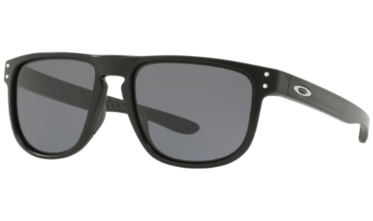 481a4b0016e Oakley Holbrook R Prescription Sunglasses Matte Black With Satin Silver  Icon Oakley Lenses