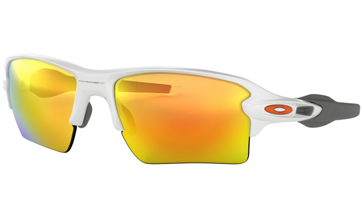 3ecd12d0fc9 Oakley Flak 2.0 XL Prescription Sunglasses Polished White Orange Oakley  Lenses