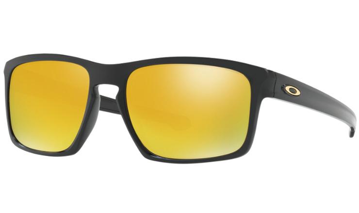 e394acb814 Oakley Sliver Prescription Sunglasses Polished Black With Gold Icon Oakley  Lenses