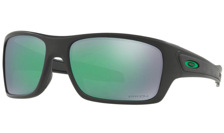 a0dbfc3ac0b2 Oakley Turbine Prescription Sunglasses Matte Black With Green Icon Oakley  Lenses