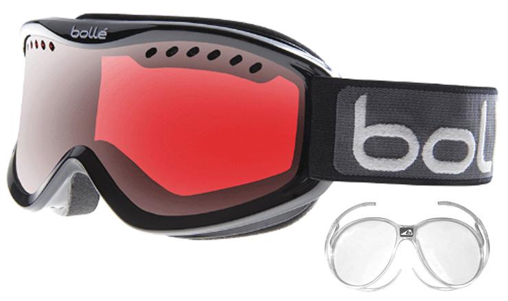 a846b5fea35 Bolle Carve Shiny Black with Vermillon Gun Lens Prescription Goggles