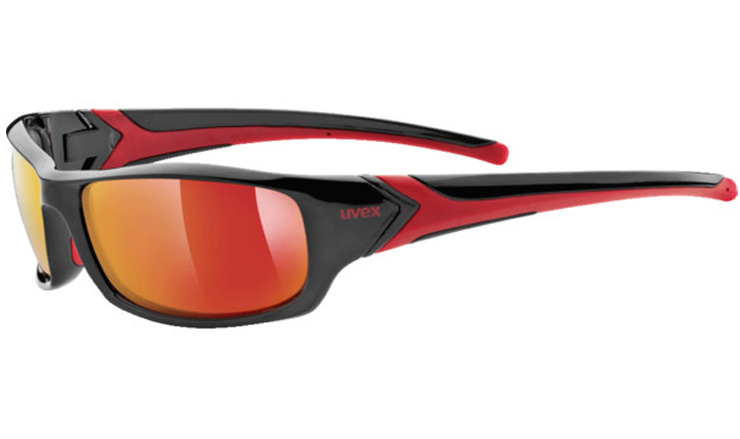 712ed7075d1 Uvex 211 Prescription Sunglasses Black Red with Digital Wrap Direct Lenses