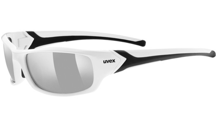 cb570581224 Uvex 211 Prescription Sunglasses White Black with Digital Wrap Direct Lenses