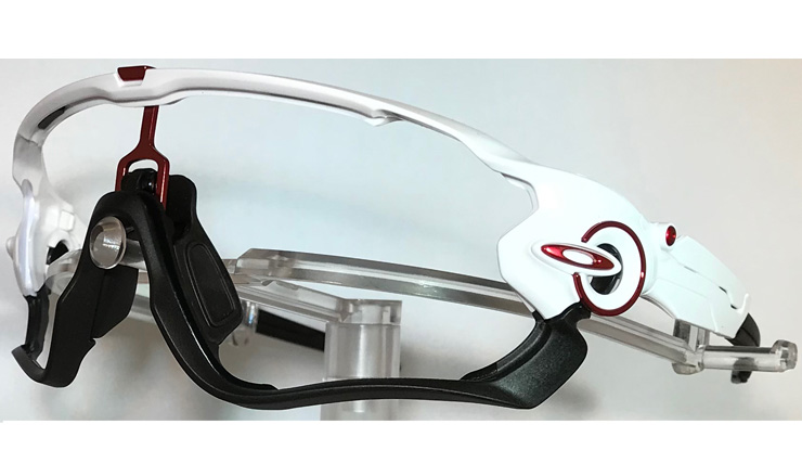 Oakley-Jaw-Breaker-Frame-Polished-white-&-Black-With-Red