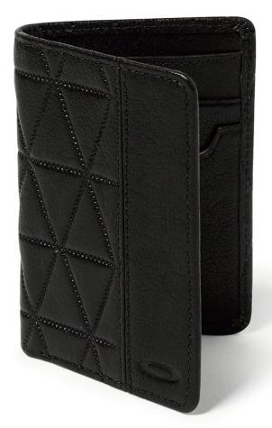 Oakley wallet black leather