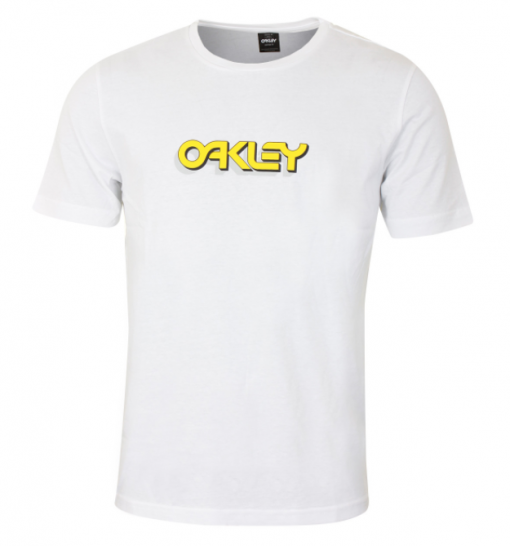 Oakley tee white : yellow